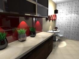 kuchnia w bloku panele 3d