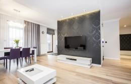 Czarno białe mieszkanie glamour
