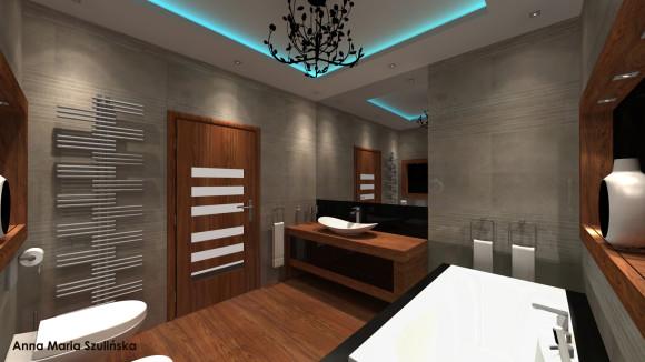 Szara łazienka Archan Design Anna Maria Szulińska E