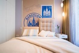 Sypialnia z Barceloną