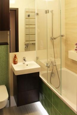 Zielona łazienka