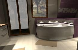 Fioletowa łazienka