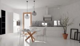 Kuchnia w bieli.