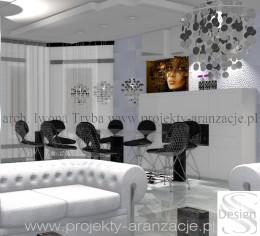 Projekt i aranżacja salonu i jadalni