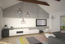 Salon domu w Łodzi