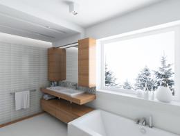 zimowa łazienka