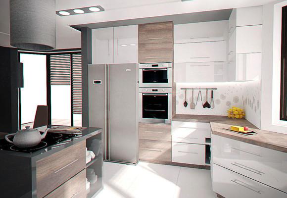 Projekt kuchni jadalni projekty wn trz warszawa e for Projekty kuchni z salonem
