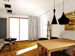 Strefa dzienna w niewielkim mieszkaniu