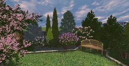Ogród przydomowy w Bawarii