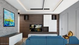 Projekt mieszkania 55m2 w Dąbrowie Górniczej