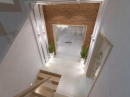 Projekt klatki schodowej w nowoczesnym stylu