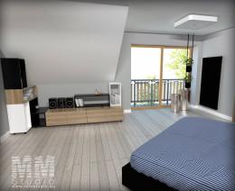 Sypialnia z łazienką i garderobą