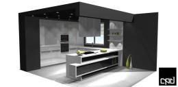 Biała kuchnia 1 / White kitchen 1 (projekt/a project))