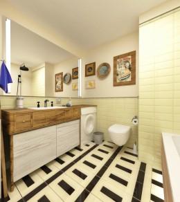 łazienka z drabiną