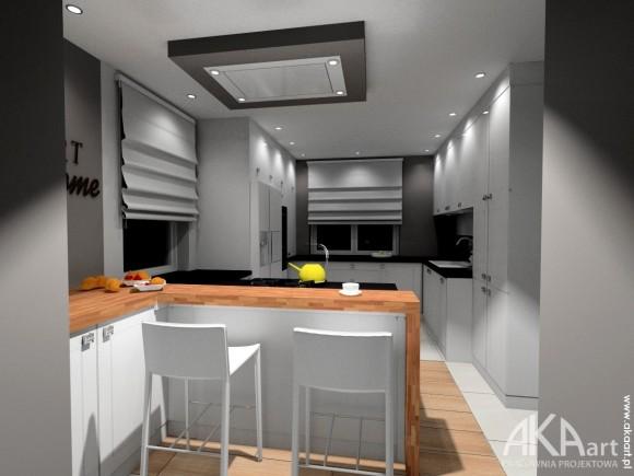 Kuchnia Z Półwyspem Pracownia Projektowa Akaart E