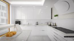 Biały apartament w Krakowie