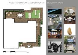 Koncepcja zagospodarowania ogrodu na dachu