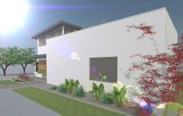 Projekt ogrodu nowoczesnego - strefa wejściowa