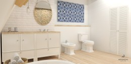 łazienka rustykalna / vintage