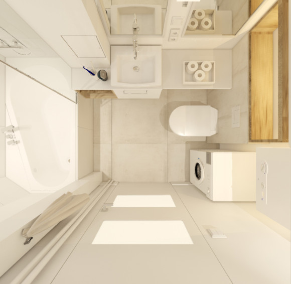 Mała łazienka W Bloku Aleksandra Jankowska E Aranżacjepl