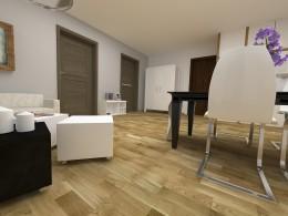 Nowoczesny salony z kuchnią