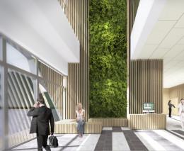 Projekt hallu w biurowcu - Warszawa