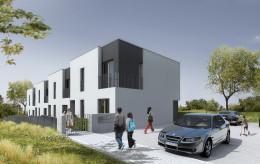 Projekt domów w zabudowie szeregowej