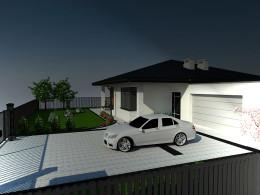 Wizualizacja ogrodu przy domu jednorodzinnym