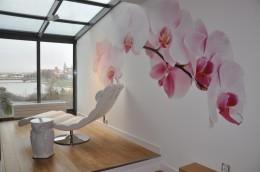 sypialnia z orchideą