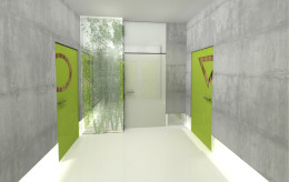 Projekt zespołu toalet publicznych