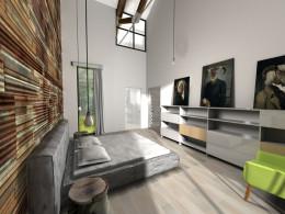 Przestrzeń prywatna domu jednorodzinnego Kuźnia Nova