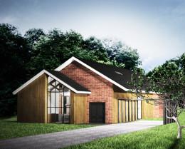 Projekt elewacji domu jednorodzinnego Kuźnia Nova