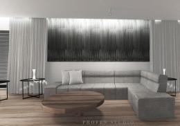 Beton i drewno z akcentem czerni