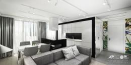 WONDERLAND – projekt wnętrza apartamentu