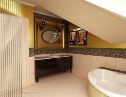 Łazienka klasyczny glamour