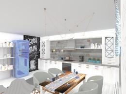Skandynawski salon z elementami vintage