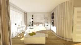 Sypialnia w bieli i beżach