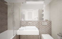 Czekolada i biel w łazience