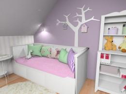 Słodki pokój dziewczynki