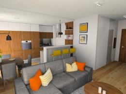 Mieszkanie ogrzane ciepłym kolorem
