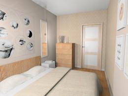 Przytulne mieszkanie z miedzią - sypialnia