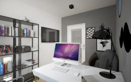 Designerskie mieszkanie z czerwienią - przedpokój, gabinet