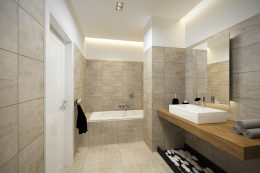 Szary apartament - łazienki