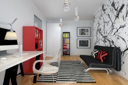Szary apartament - pokoje dziecięca