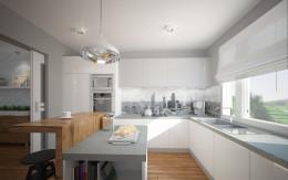 Kuchnia i przedpokoje w domu jednorodzinnym