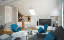 Pokój do odpoczynku w domu jednorodzinnym