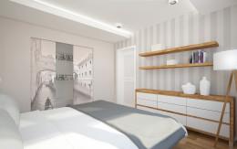 Skandynawska sypialnia w domu jednorodzinnym