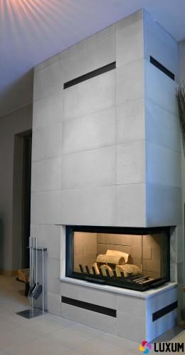 Beton architektoniczny jako okładzina kominkowa