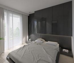 Sypialnia w mieszkaniu 65m2  Warszawa