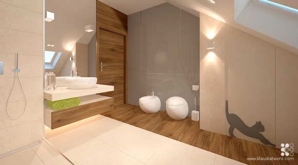 łazienka W Drewnie Klaudia Tworo E Aranżacjepl